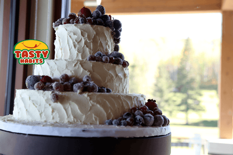 3 Tiers with Frosted Fruits Decoration - Tasty Habits  - 1