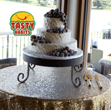 3 Tiers with Frosted Fruits Decoration - Tasty Habits  - 3