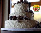 3 Tiers with Frosted Fruits Decoration - Tasty Habits  - 4