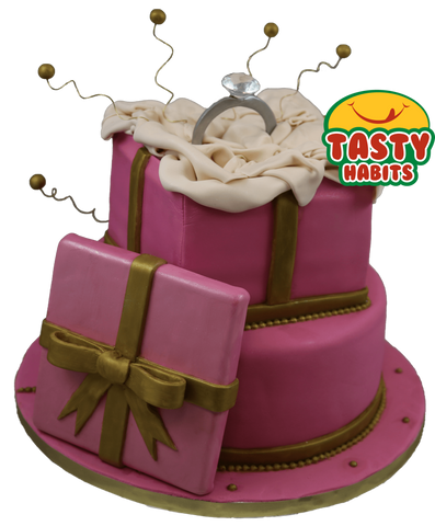 Gift Box and Ring Cake - Tasty Habits