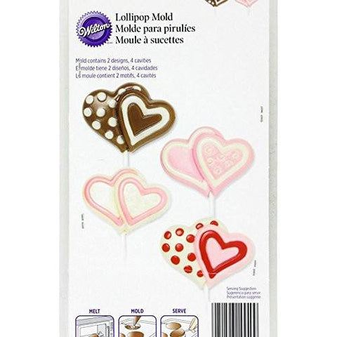 Wilton Double Heart Lollipop Mold - kitchenWare - Tasty Habits