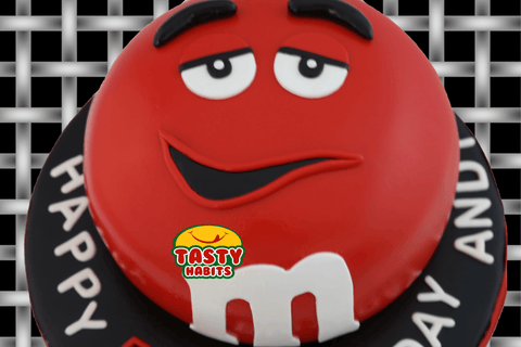M&Ms Themed Cake - Tasty Habits  - 1