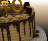 Vanilla Mocha Cake with 3D Number Topper - Cakes - Tasty Habits Bakery
