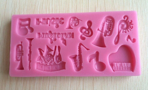 Musical Instruments cake mold silicone - kitchenWare - Tasty Habits