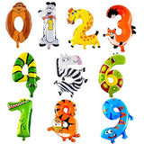 16 inch Figure Number Foil Balloons (Air Inflated) - Party Supplies - Tasty Habits