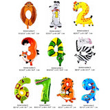16 inch Figure Number Foil Balloons (not inflated) - Party Supplies - Tasty Habits