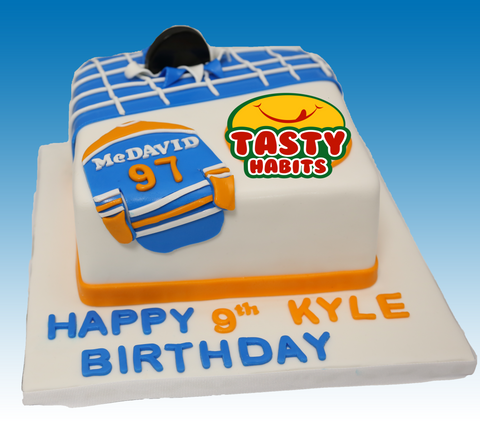 Hockey Theme Cake - Cakes - Tasty Habits Bakery