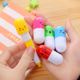 Smiling Pill Ballpoint Pen Telescopic Capsule - Promo Gift Items - Tasty Habits