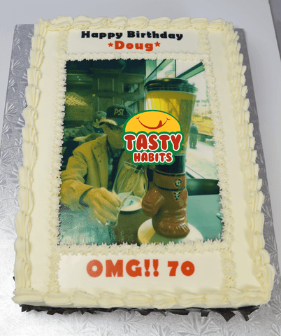 Picture Cake Rectangular - Tasty Habits  - 1