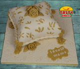 Custom Design Cakes Roses on a Pillow - Tasty Habits  - 1