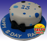 Polka Dots Cake with Bow Topper - Tasty Habits  - 1