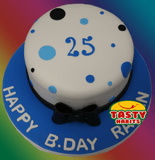 Polka Dots Cake with Bow Topper - Tasty Habits  - 2