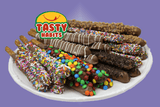 Double Dipped Pretzel Rods - Tasty Habits  - 4