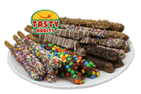 Double Dipped Pretzel Rods - Tasty Habits  - 13