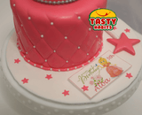 Princess Cake With Crown and Wand Toppers - Cakes - Tasty Habits Bakery