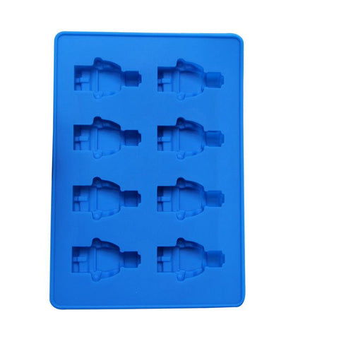 8 Holes Mini Figure Robot Ice Cube Tray Mold Chocolate Cake Jelly Jello Silicone Mold Fondant Moulds - kitchenWare - Tasty Habits