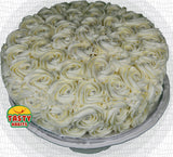Rosette Cake Covered in Icing. - Tasty Habits  - 1