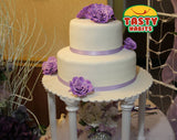 Custom Design Cakes Roses 2, 3 or 4 Tiers Cake - Tasty Habits  - 3