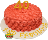 Rosette Cake Covered in Icing with 3D number topper - Tasty Habits  - 1