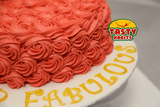 Rosette Cake Covered in Icing with 3D number topper - Tasty Habits  - 7