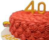 Rosette Cake Covered in Icing with 3D number topper - Tasty Habits  - 6