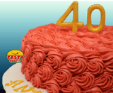 Rosette Cake Covered in Icing with 3D number topper - Tasty Habits  - 4