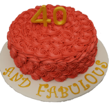 Rosette Cake Covered in Icing with 3D number topper - Tasty Habits  - 3