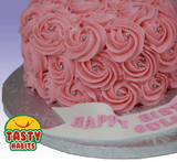 Rosette Cake Covered in Icing. - Tasty Habits  - 5