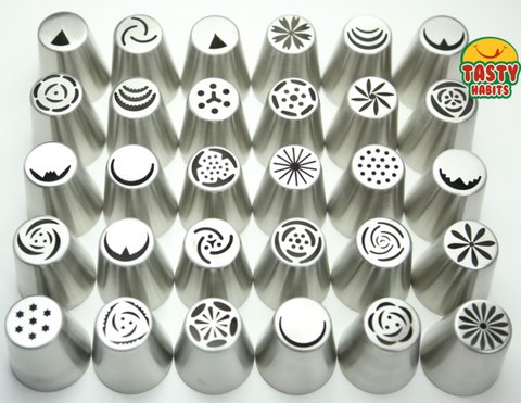 10 Icing Nozzles & Free Mug - Kitchenware - Tasty Habits Ltd