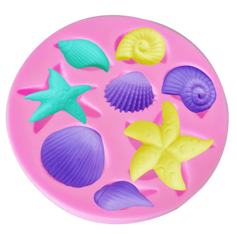 Sea starfish snail conch shell Silicone Cake Mold - kitchenWare - Tasty Habits