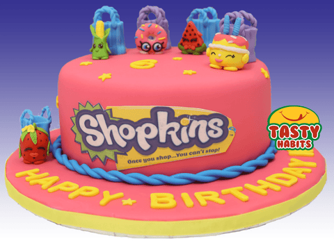 Shopkins Cartoon Edible Toppers - Tasty Habits