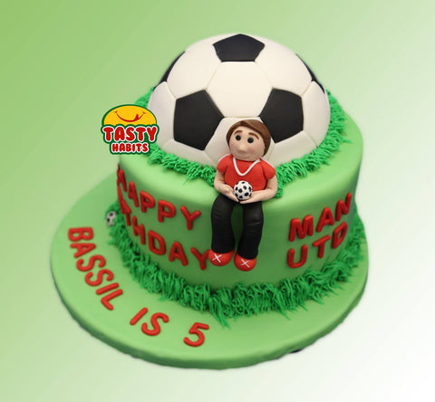 Custom Design Cakes Soccer Ball - Cakes - Tasty Habits Bakery