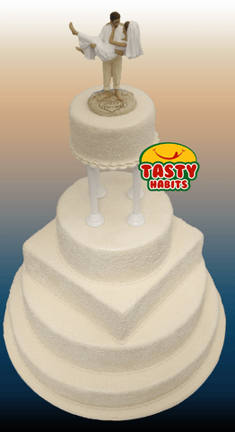 5 Tiers With Sugar Decoration - Tasty Habits  - 5