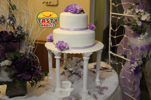 Custom Design Cakes Roses 2, 3 or 4 Tiers Cake - Tasty Habits  - 4