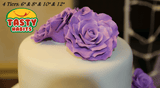 Custom Design Cakes Roses 2, 3 or 4 Tiers Cake - Tasty Habits  - 9