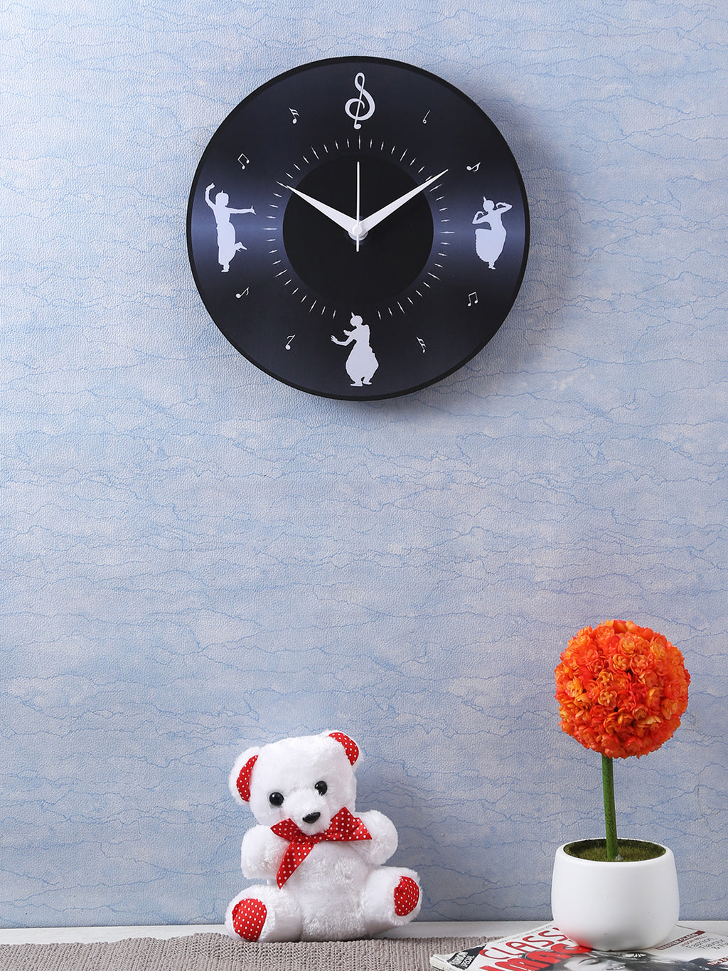 Handcrafted Vinyl Disc Wall Clock