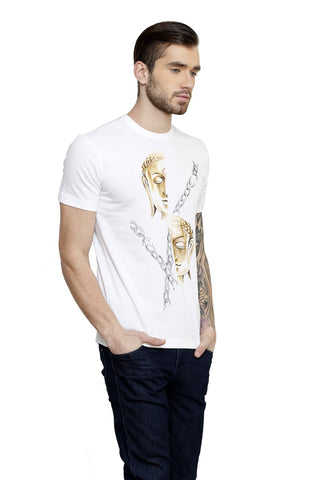 Hand-painted Golden Buddha T-shirt