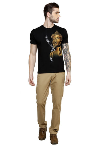 Hand-painted Blazing Buddha T-shirt