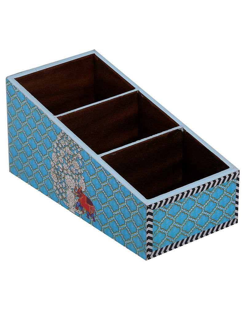 Handcrafted Paisley Elephant Wooden Cutlery Holder