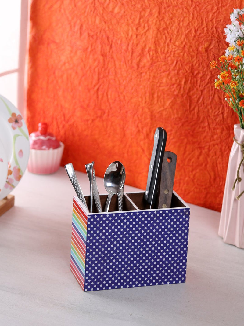 Handcrafted Love Of Colors Wooden Cutlery Holder