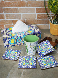 Handcrafted Persian Delight Tissue Box Cover with Coasters