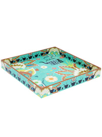 Handcrafted Chaiwala Serving Tray with Coasters