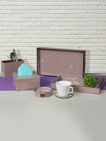 Geometry Delight Table Décor Combo (Set of 9)
