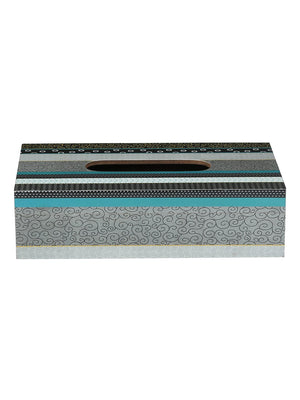 RANGRAGE Contemporary Layers Tissue Box with Coasters (Set of 6)
