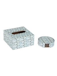RANGRAGE Persian Festival Tissue Box with Coasters (Set of 6)