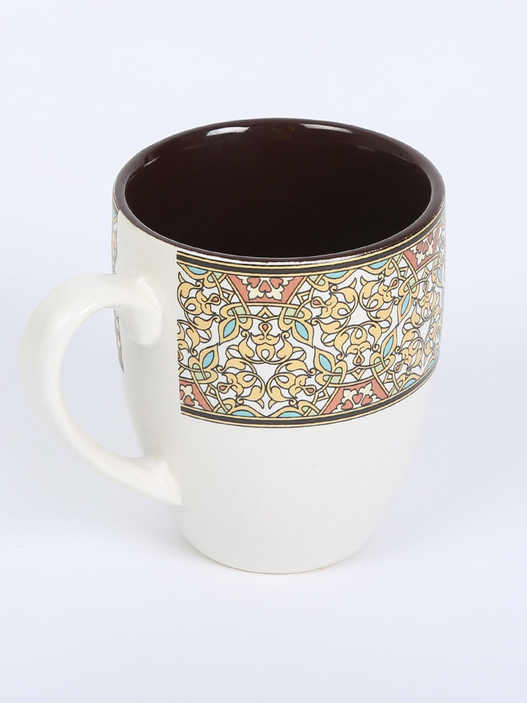 RANGRAGE Handcrafted Persian Garden Tea/Coffee Mugs (Set of 6)