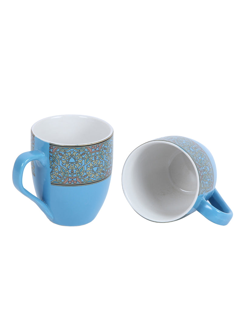 Handcrafted Deep Sky Blue Tea / Coffee Mugs Set of 6