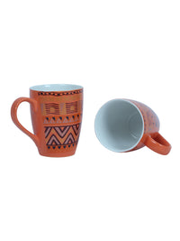 Handcrafted Ginger Orange Milk Mugs set of 4
