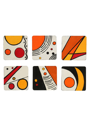 Hand-painted Abstract Universe Coaster Set