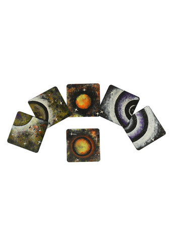 Hand-painted Secrets of Universe Coaster Set